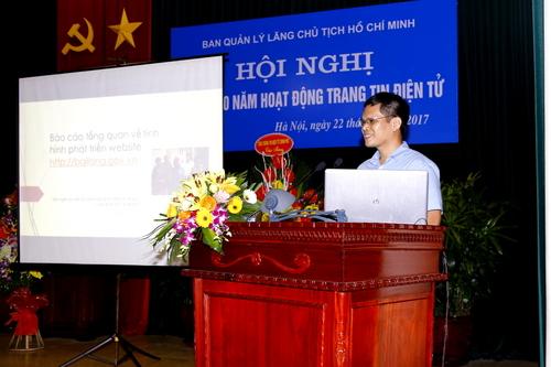 Chủ tịch HDQT ECPVietnam báo cáo tình hình hoạt động của trang tin