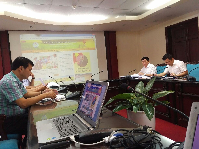 ECPVietnam tham dự buổi họp về đề án nâng cấp hệ thống thông tin điện tử của Liên minh Hợp tác xã Việt Nam