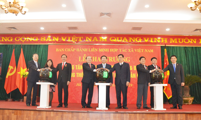 Phó thủ tướng Vương Đình Huệ khai trương Cổng thông tin điện tử phiên bản mới của Liên minh HTX Việt Nam